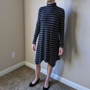 Mossismo Black and White Stripes Dress